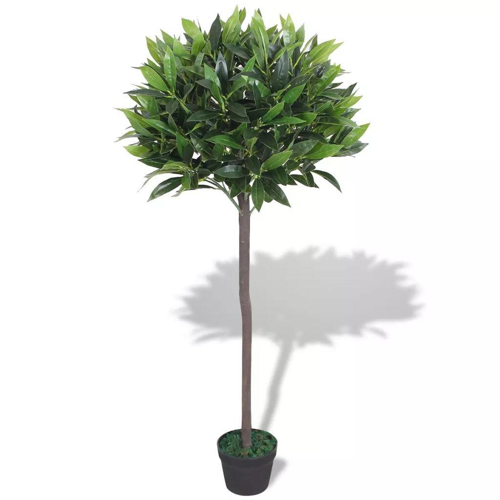 Umělá rostlina vavřín s květináčem - 125 cm | zelený