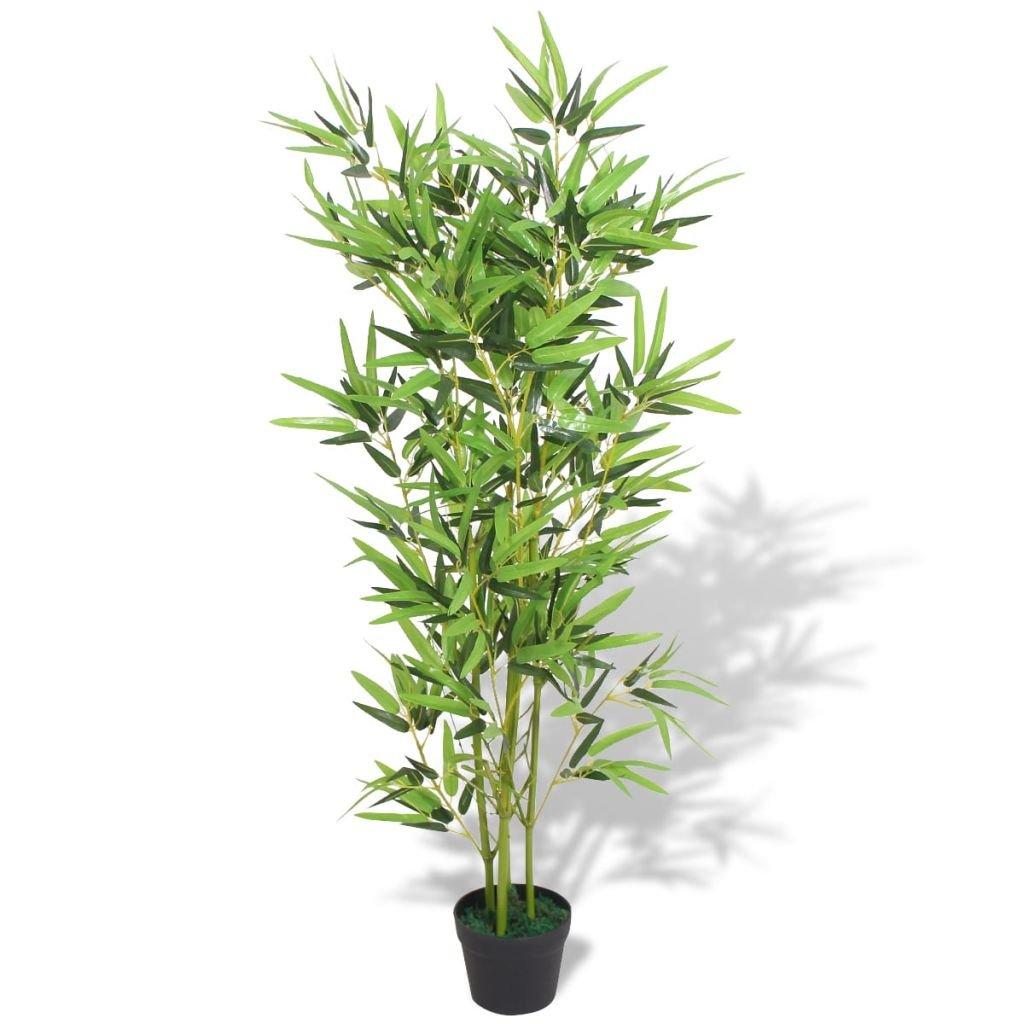 Umělá rostlina bambus s květináčem - 120 cm | zelený