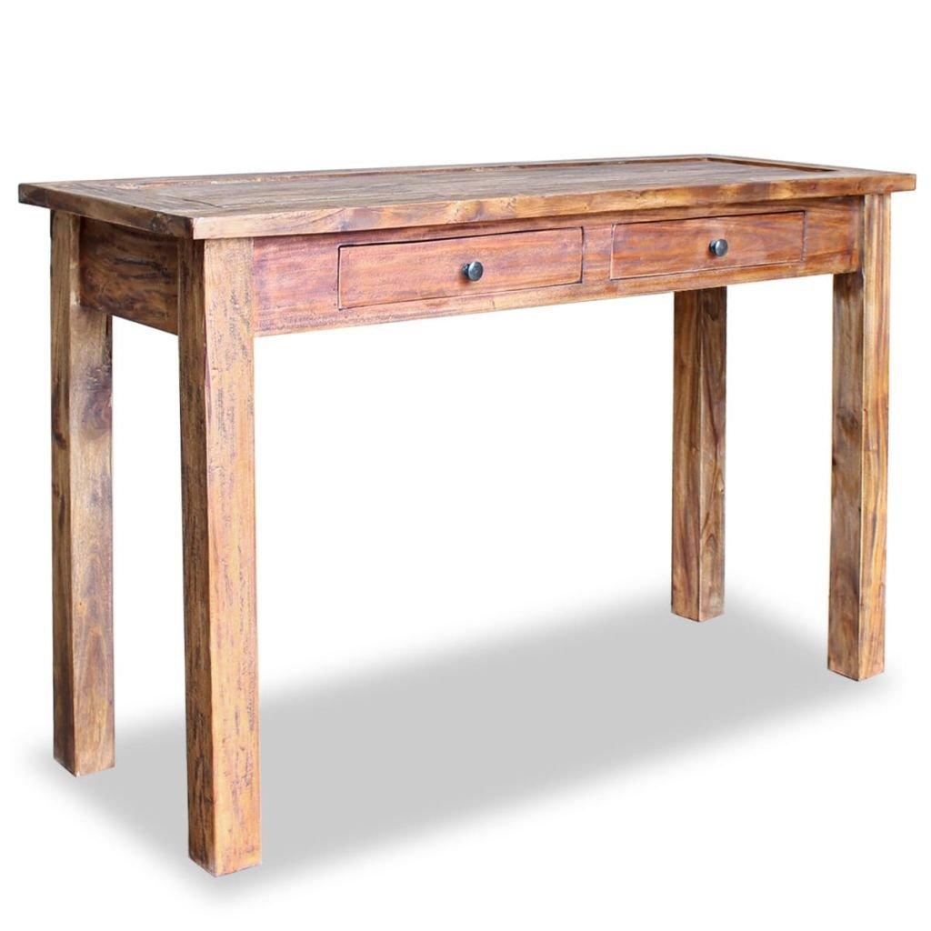 Odkládací stolek Tampa - masivní recyklované dřevo | 123x42x75 cm