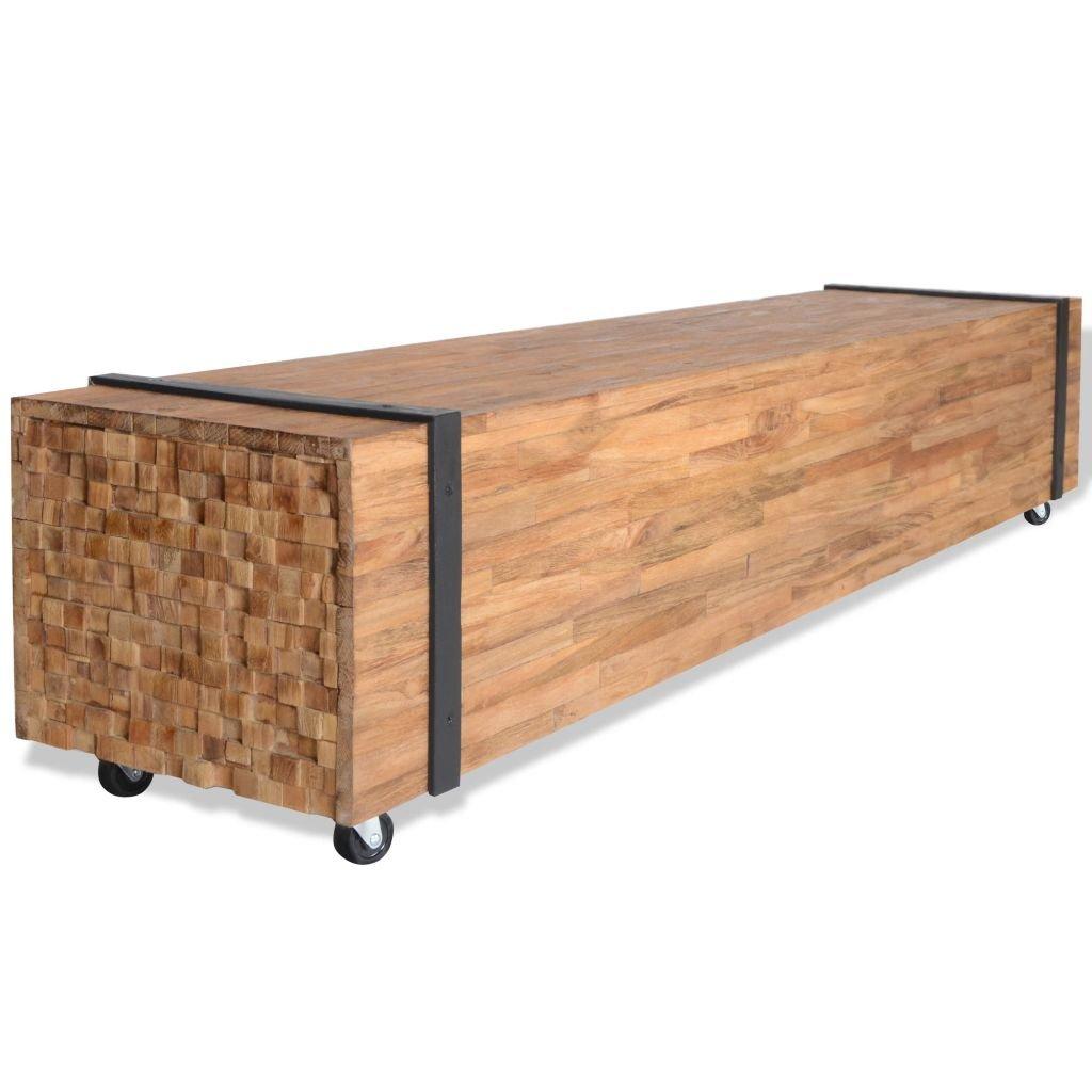 Televizní stolek - teak | 150x30x30 cm
