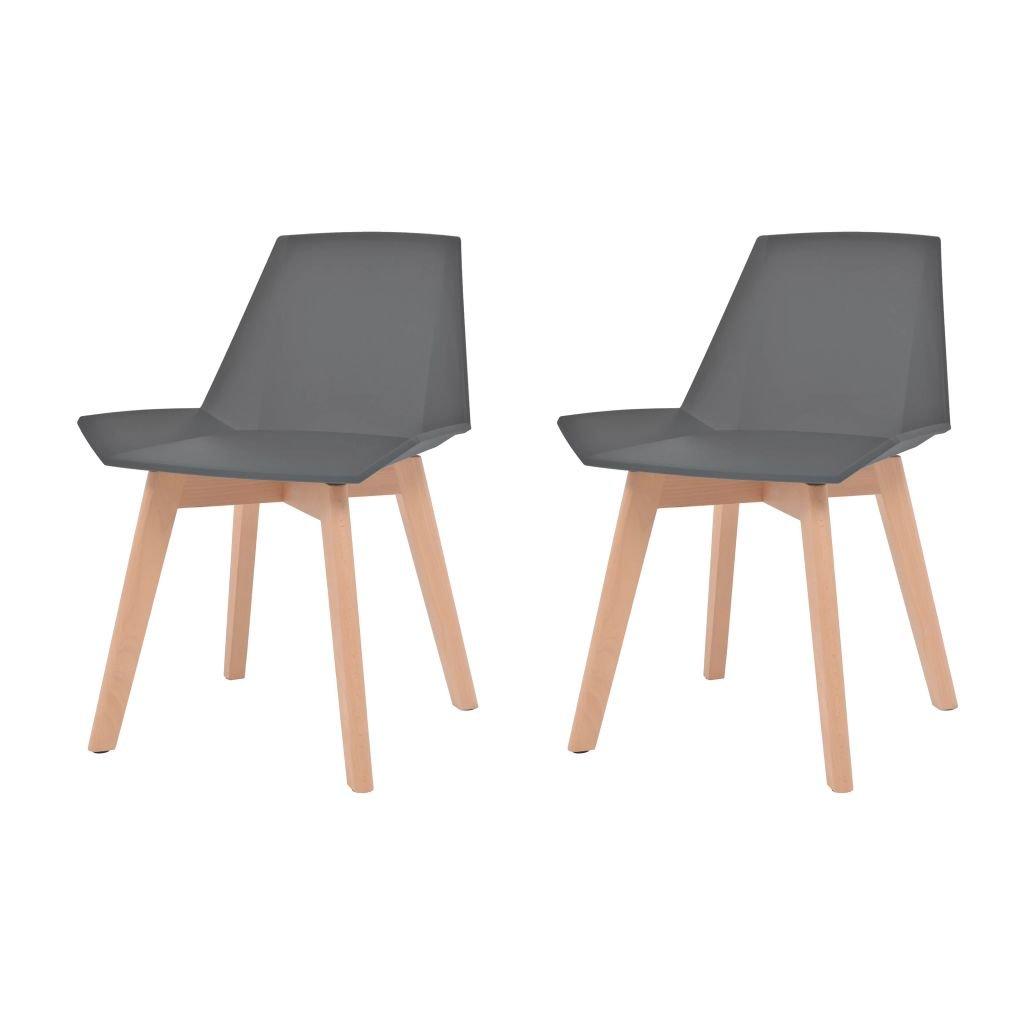 Jídelní židle Derby - 2 ks - bukové nohy | šedé