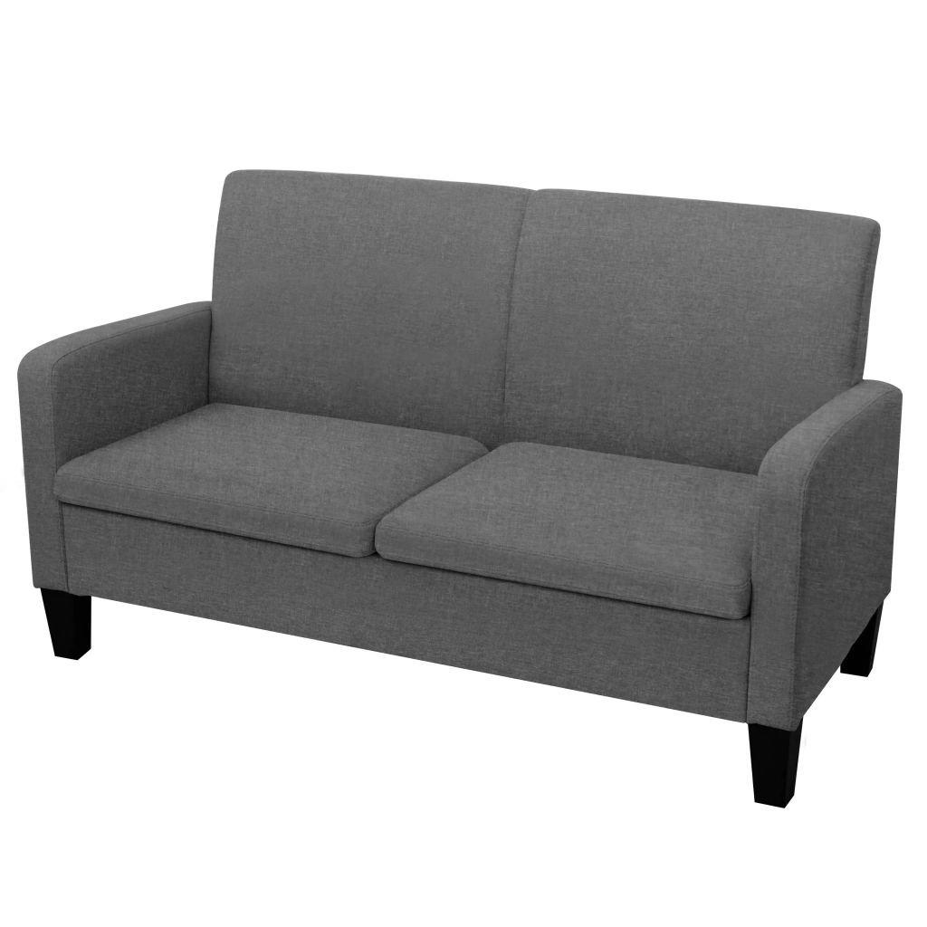 Dvousedačka Vista - tmavě šedá | 135x65x76 cm