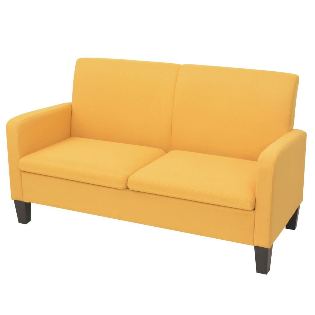 Dvousedačka Vista - žlutá | 135x65x76 cm