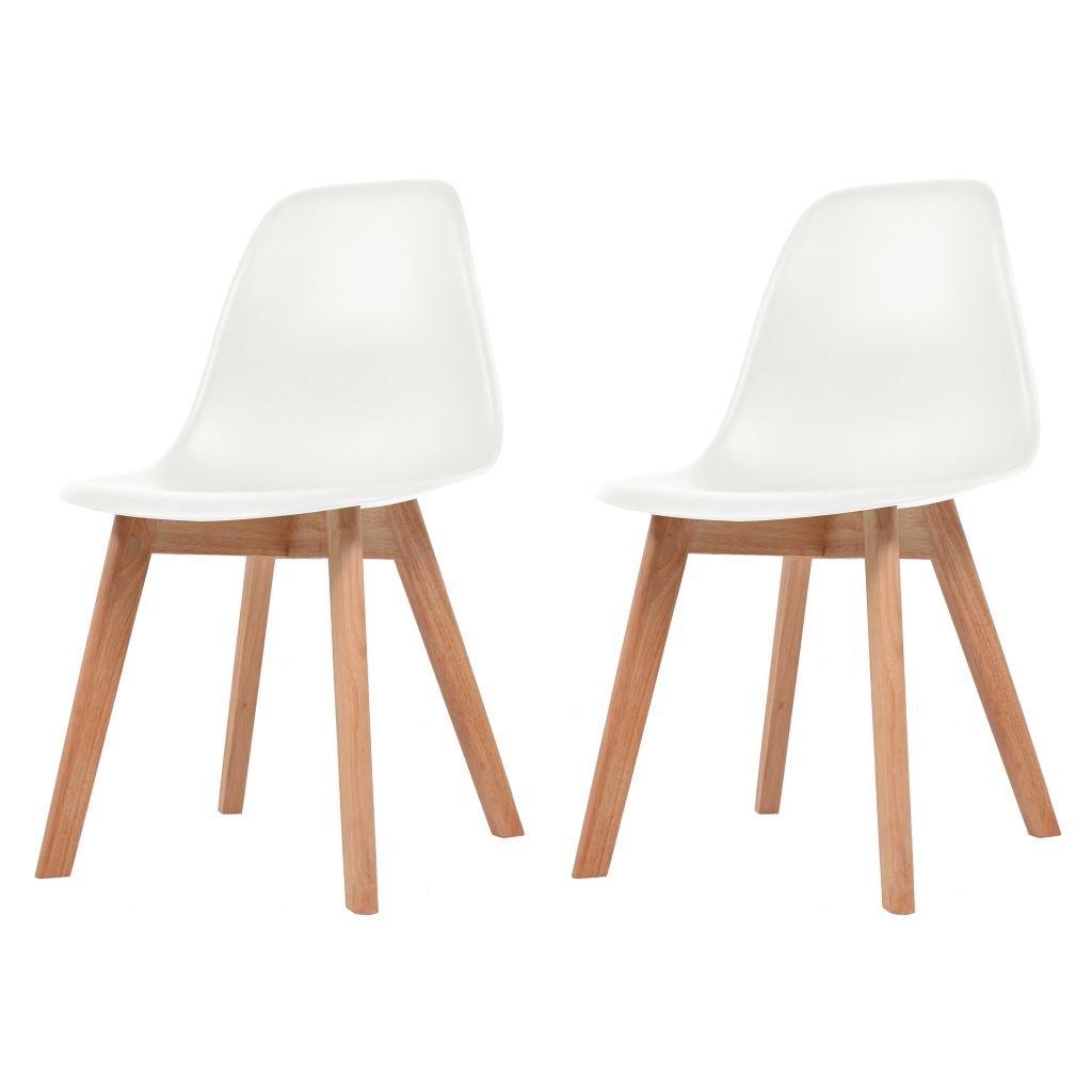 Jídelní židle Akron - 2 ks | bílé