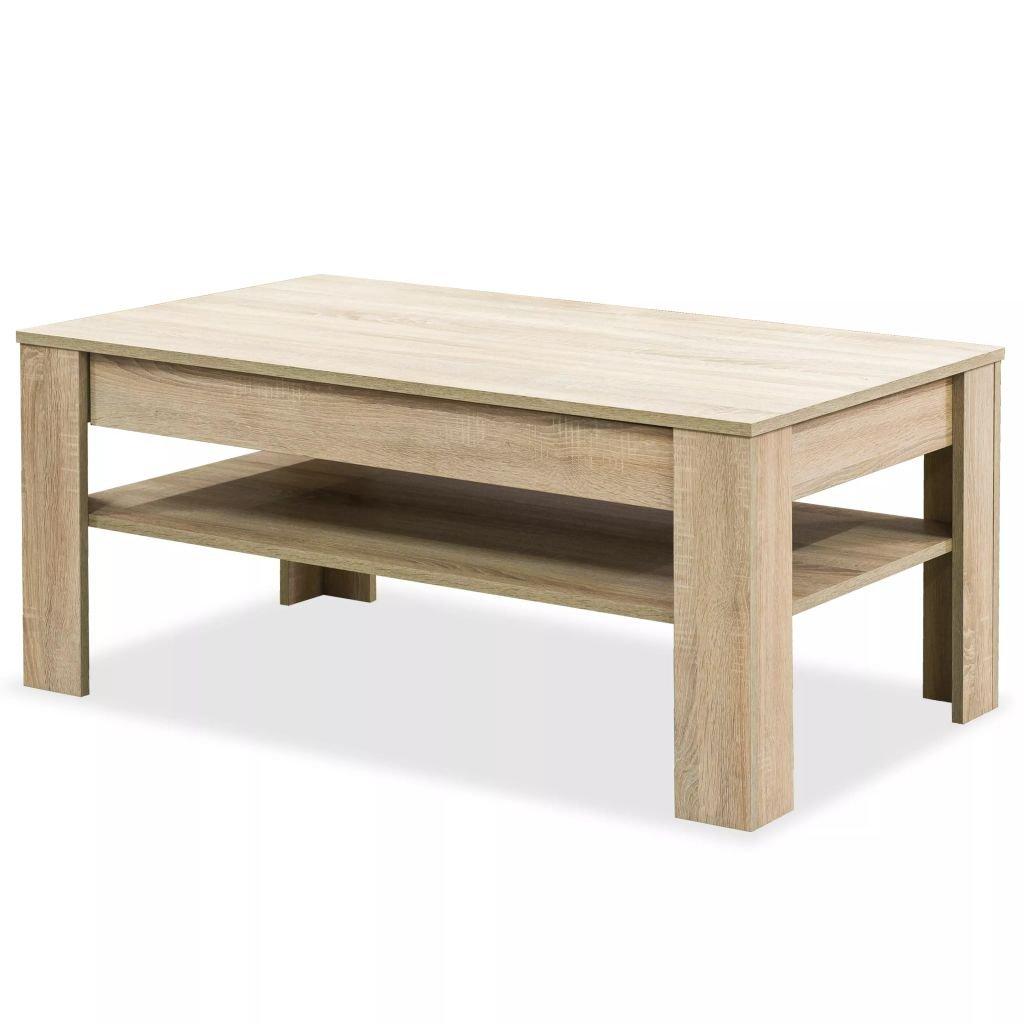 Konferenční stolek - dřevotříska - dub | 110x65x48 cm