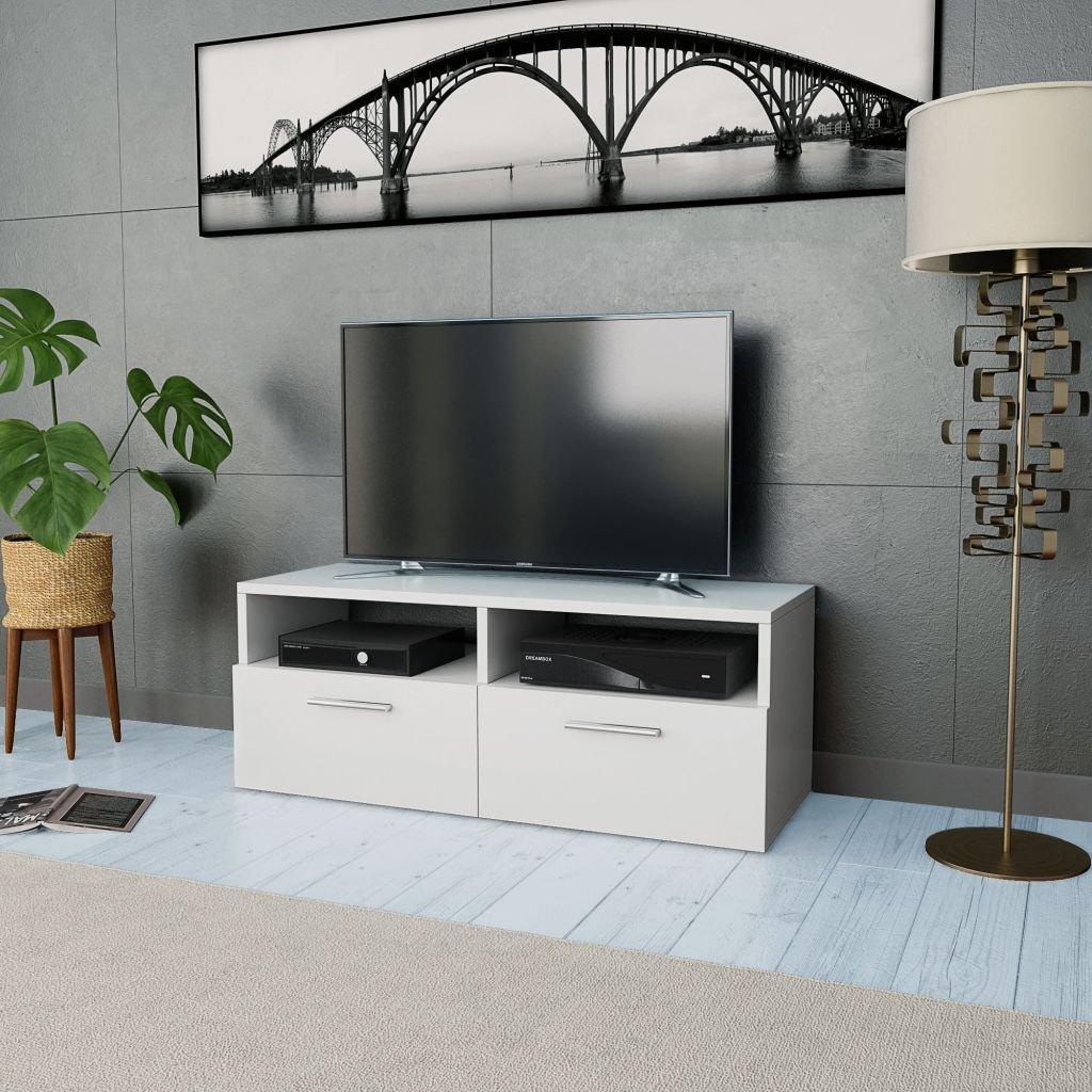 Stolek pod TV - dřevotříska - bílý   95x35x36 cm