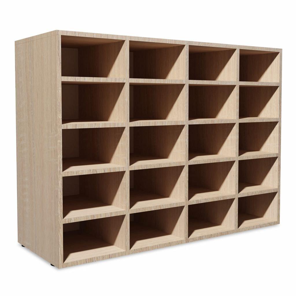 Botník - dřevotříka - dub | 92x33x67,5 cm