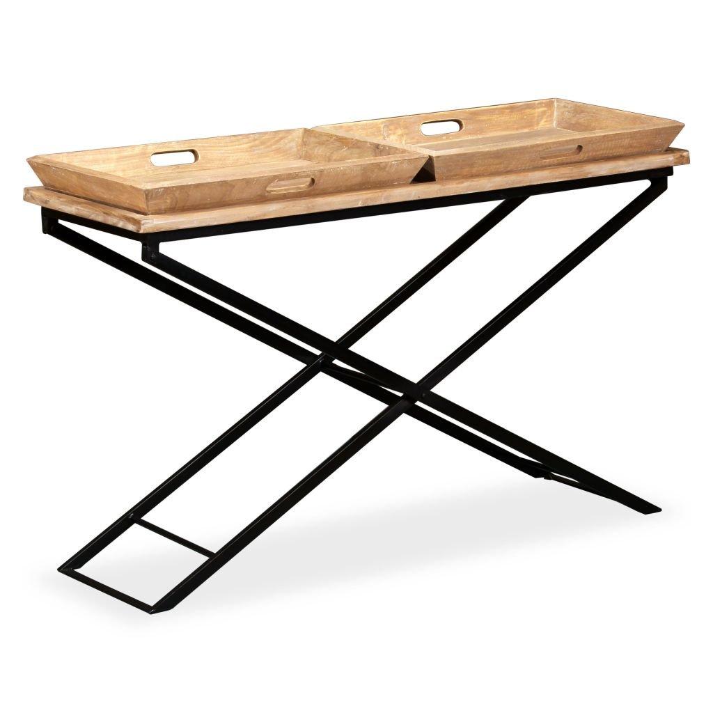 Konzolový stolek z masivního mangovníkového dřeva   130x40x80 cm