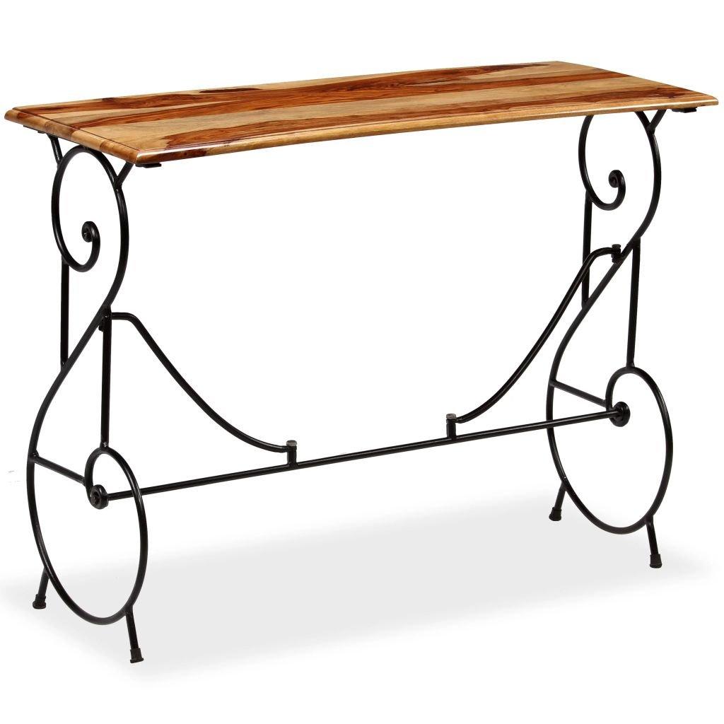 Konzolový stolek z masivního sheeshamu   100x40x75 cm