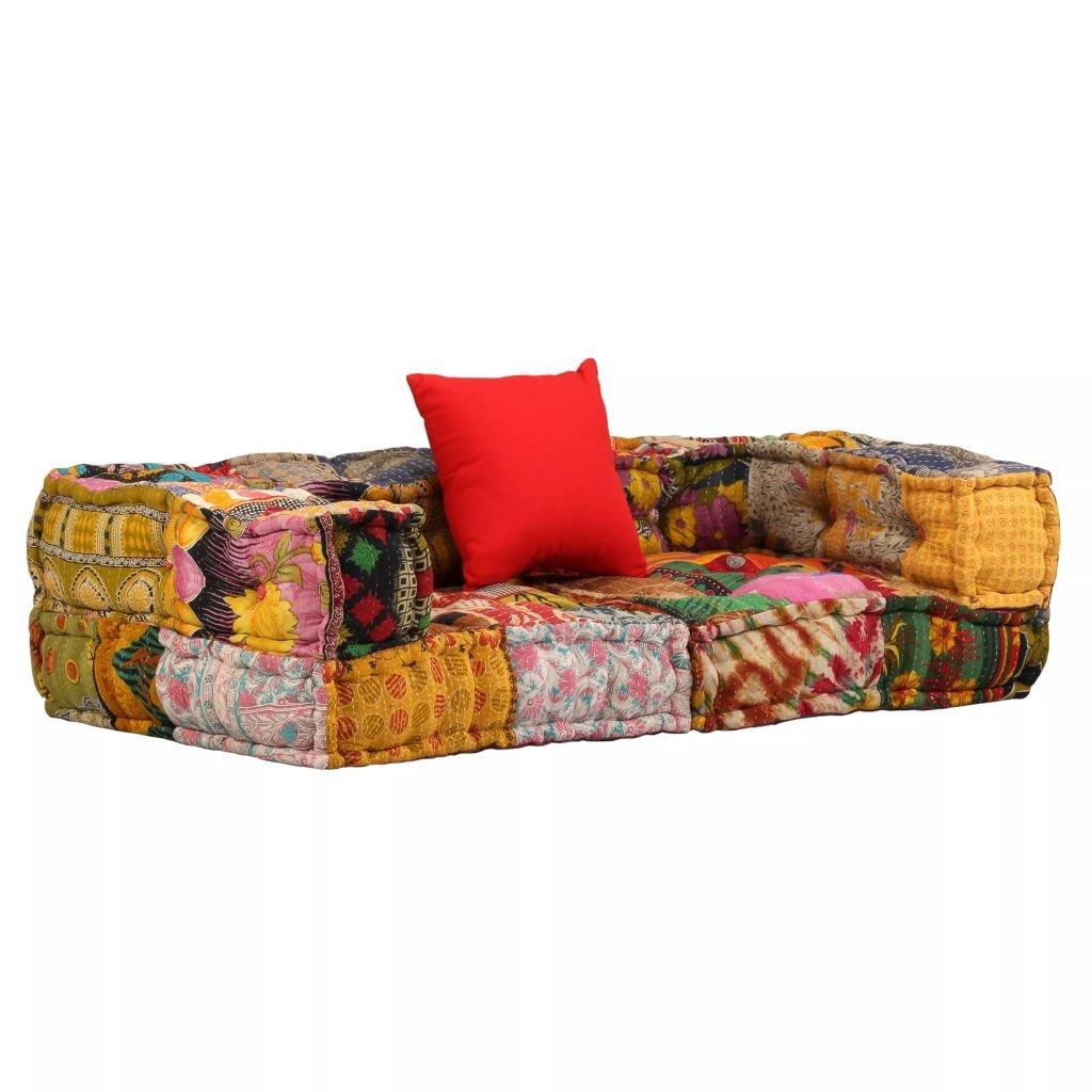 Modulová pohovka s područkami - textil | patchwork