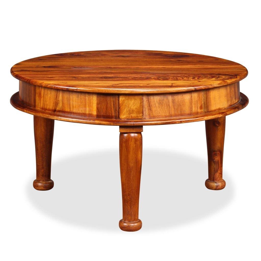 Konferenční stolek z masivního sheeshamu   70x70x40 cm