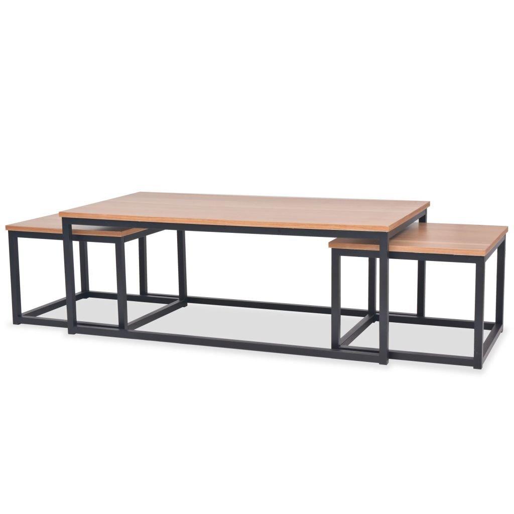 Sada konferenčních stolků - 3 ks | jasan