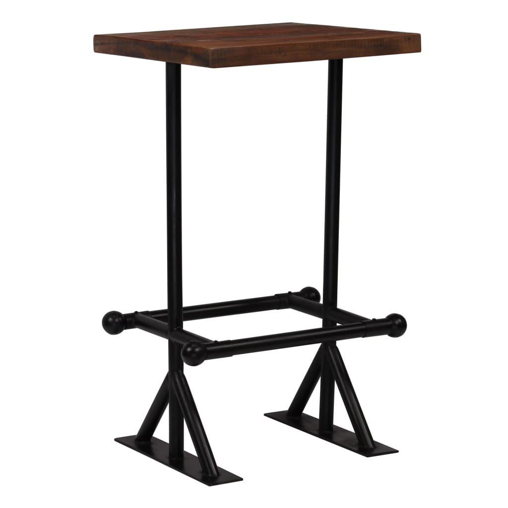 Barový stůl Dural - masivní dřevo - 60x60x107 cm | tmavě hnědý