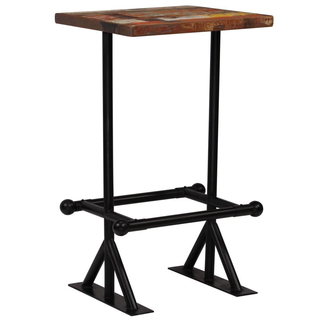Barový stůl Rouse- masivní dřevo 60x60x107 cm | vícebarevné