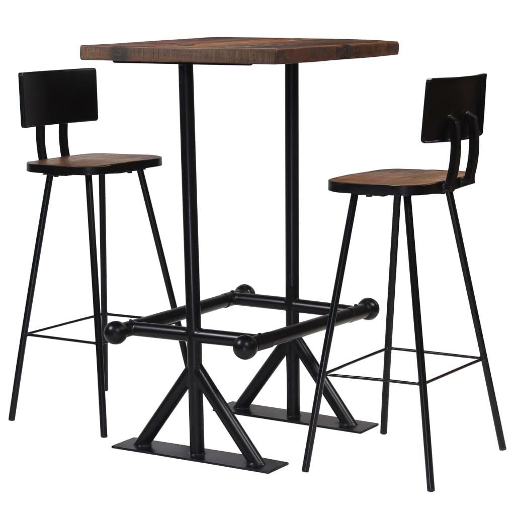 Barový set 3 kusy | masivní recyklované dřevo