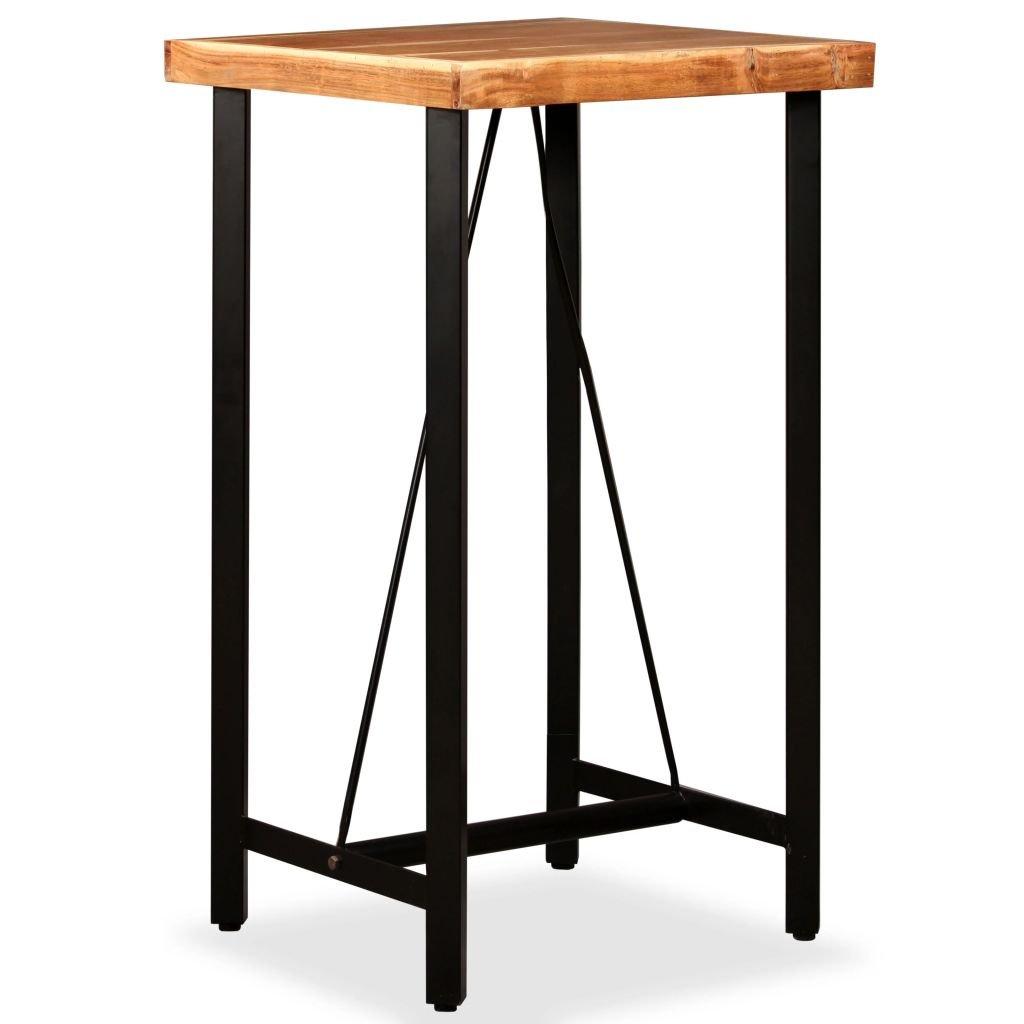 Barový stůl - masivní dřevo   60x60x107 cm