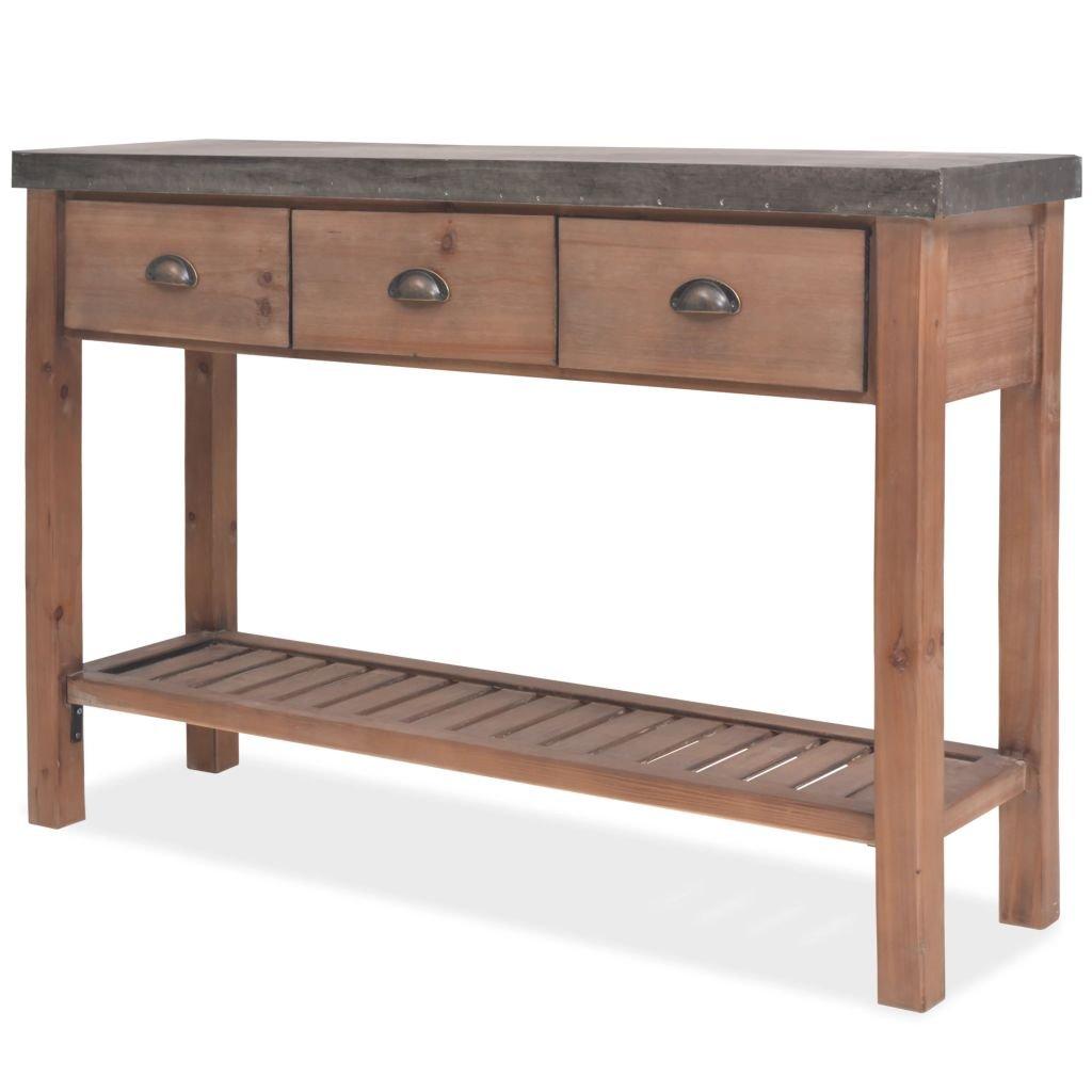Konzolový stolek z masivního jedlového dřeva | 122x35x80 cm