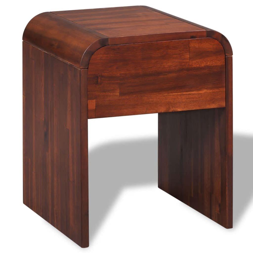 Noční stolek z masivního akáciového dřeva | 41,5x42x52 cm