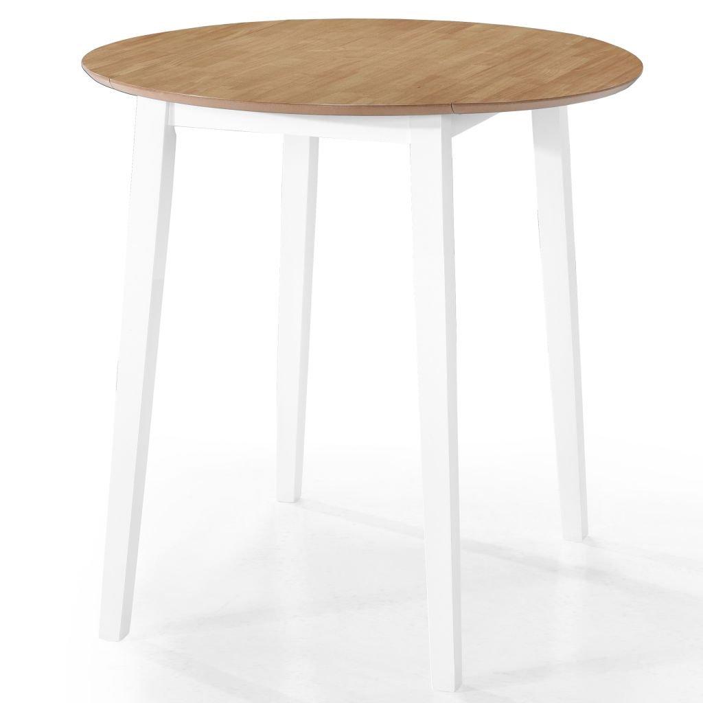 Barový stůl Alpha - masivní dřevo - 90x91 cm | přírodní