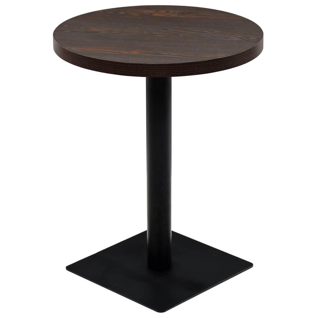 Bistro stůl - deska a ocel - kulatý | 60x75 cm
