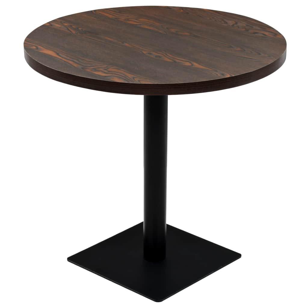 Bistro stůl - deska a ocel - kulatý | 80x75 cm