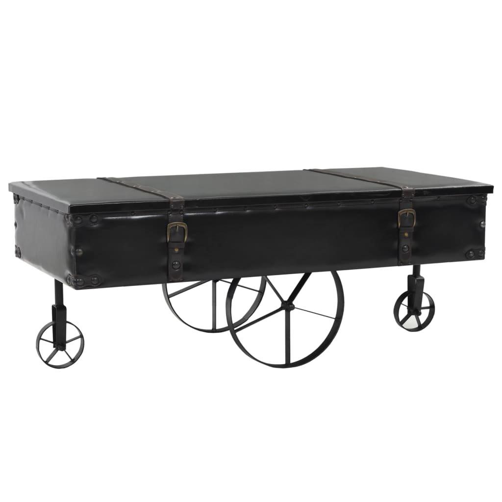 Konferenční stolek MDF a jedlové dřevo | 110x55x43 cm