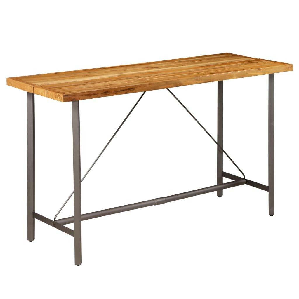 Barový stůl Cronulla - masivní teak | 180x70x107 cm