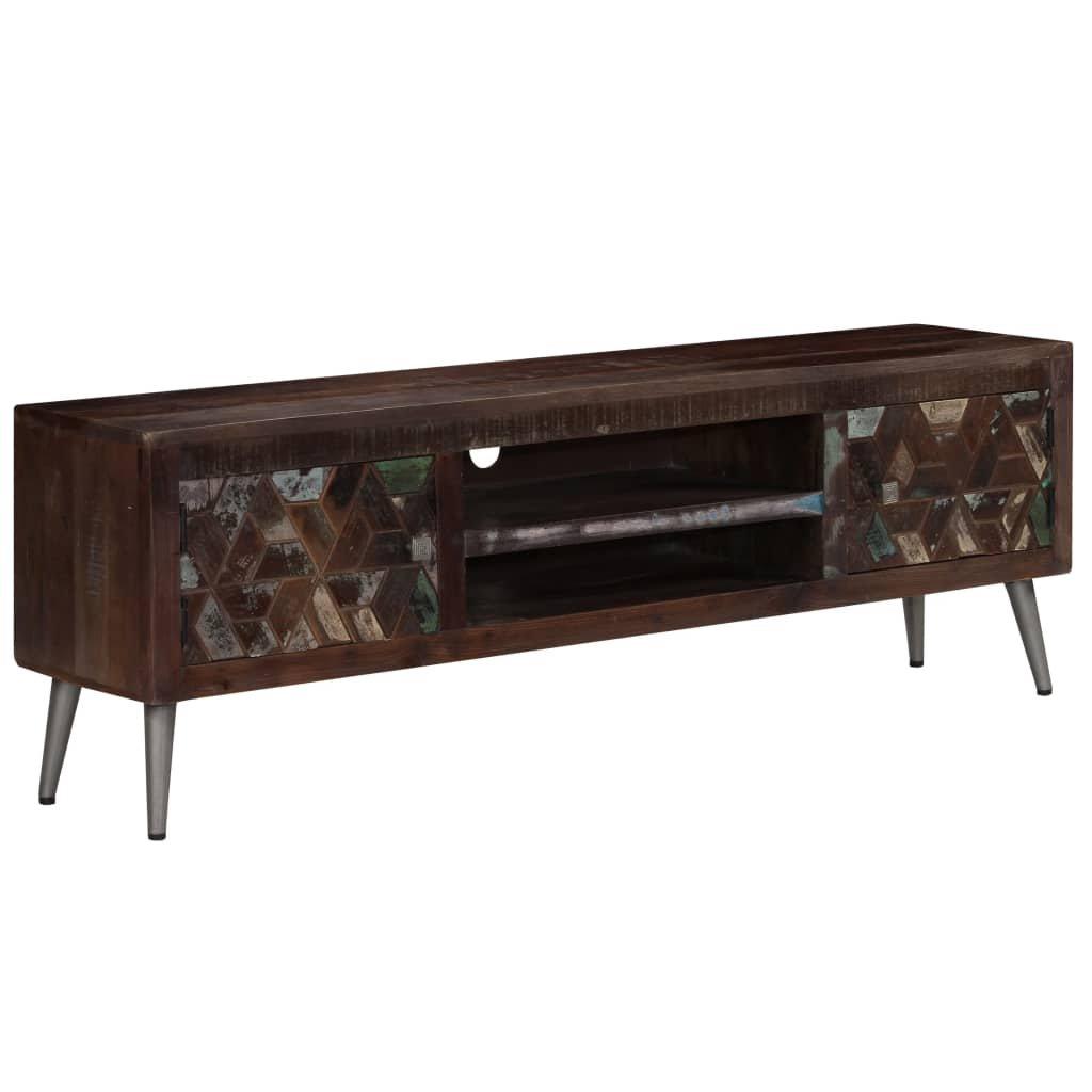 TV stolek z masivního recyklovaného dřeva   140x30x45 cm