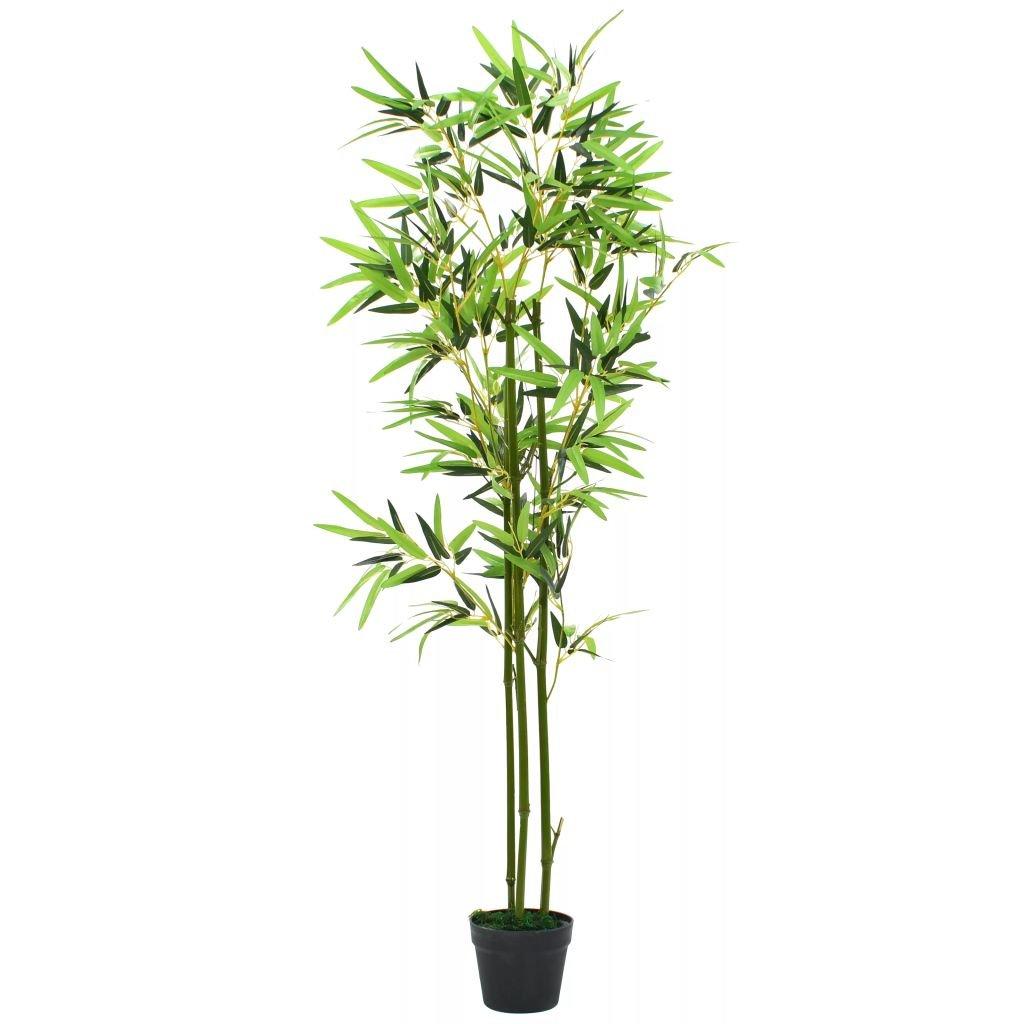 Umělá rostlina bambus s květináčem - 150 cm   zelený