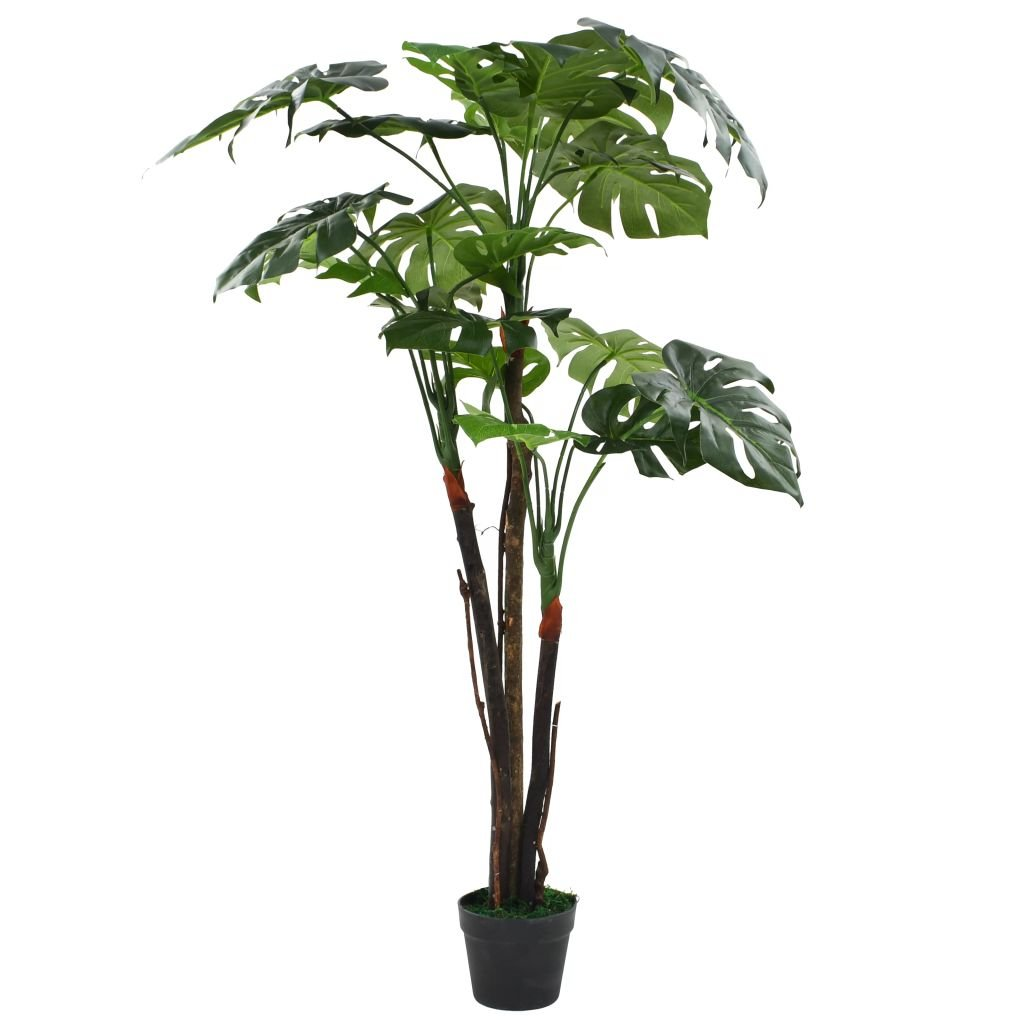 Umělá rostlina monstera s květináčem - 130 cm | zelený
