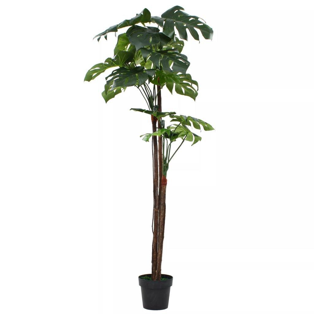 Umělá rostlina monstera s květináčem - 170 cm | zelený