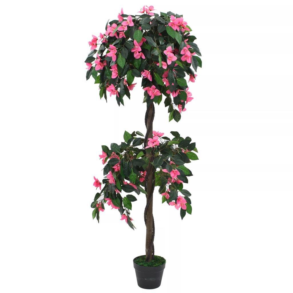Umělá rostlina rododendron s květináčem - 155 cm   zelená a růžová