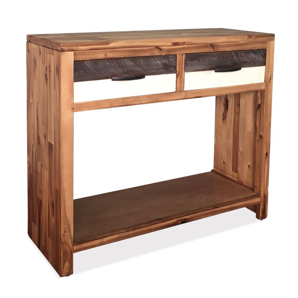 Konzolový stolek z masivního akáciového dřeva | 86x30x75 cm