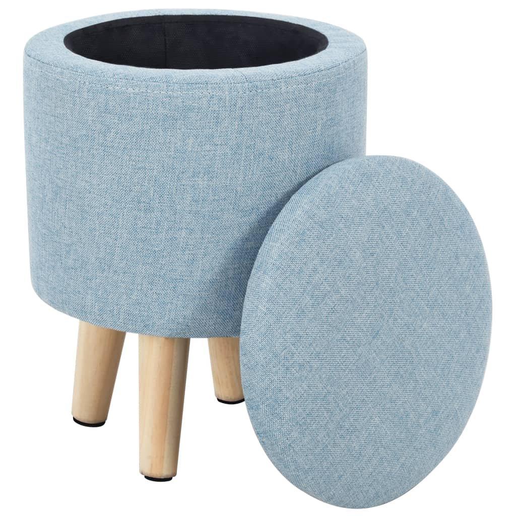 Stolička s úložným prostorem - kulatá - 24x32 cm | modrá