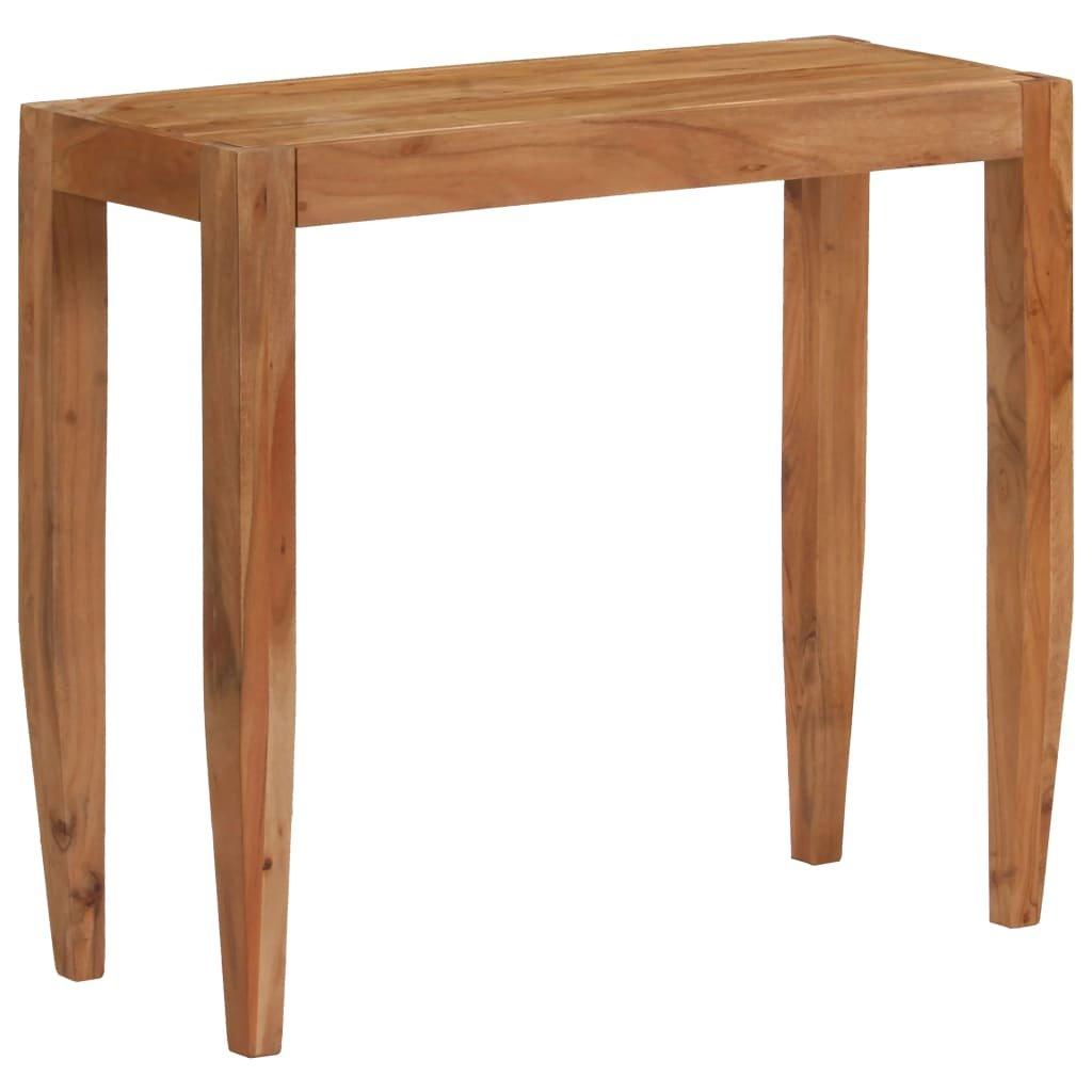 Konzolový stolek z masivní akácie - hnědý | 101x35x80 cm