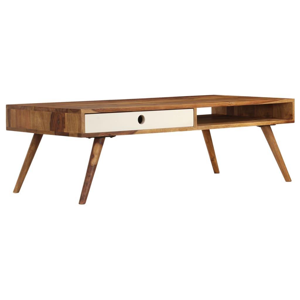 Konferenční stolek z masivního sheeshamu   110x50x35 cm