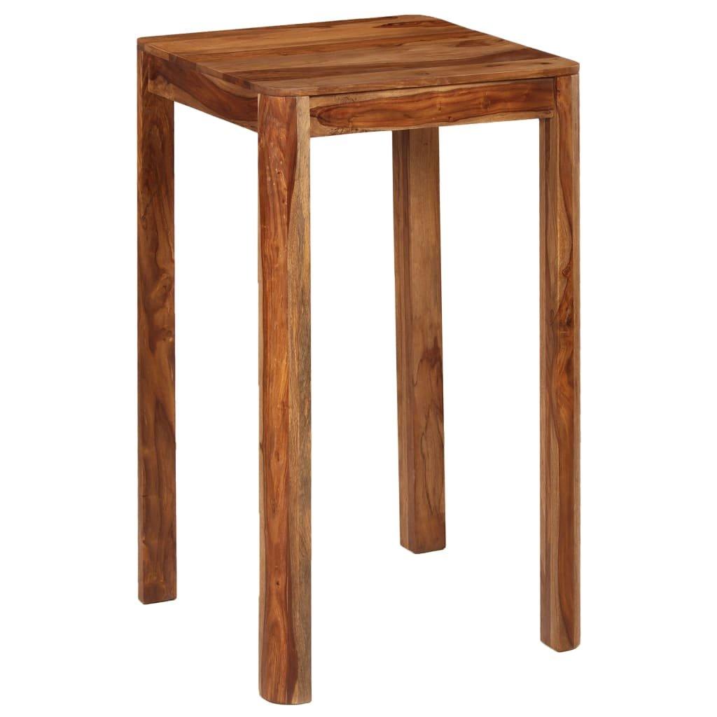 Barový stůl - masivní sheeshamové dřevo | 60x60x107 cm