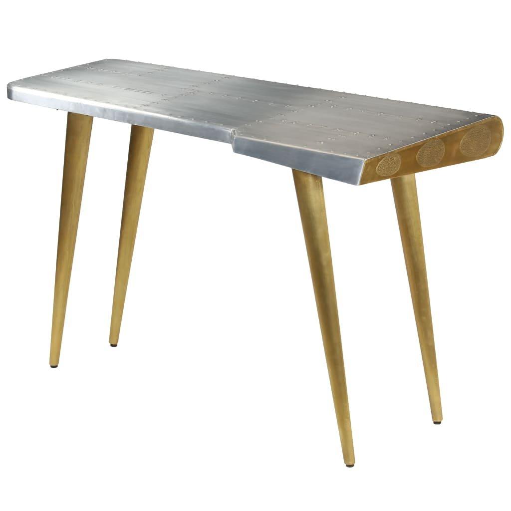 Letecký psací stůl vintage ve stylu letadla | 120x60x76 cm