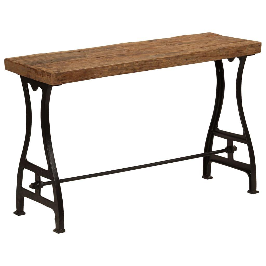 Konzolový stolek z masivního pražcového dřeva   120x40x76 cm
