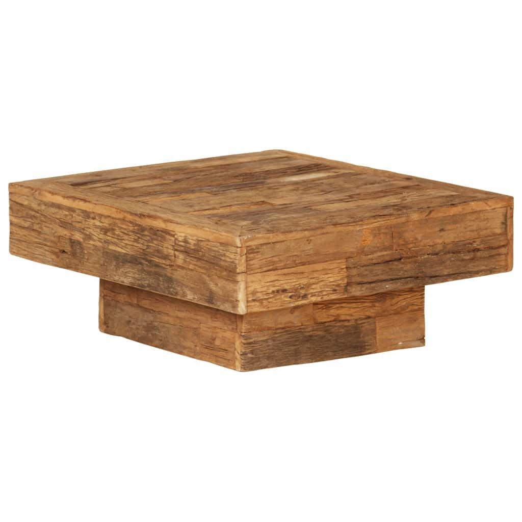 Konferenční stolek z masivních recyklovaných pražců | 70x70x30 cm