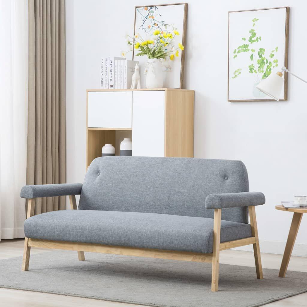 3místná sedačka Grove - textilní | světle šedé čalounění