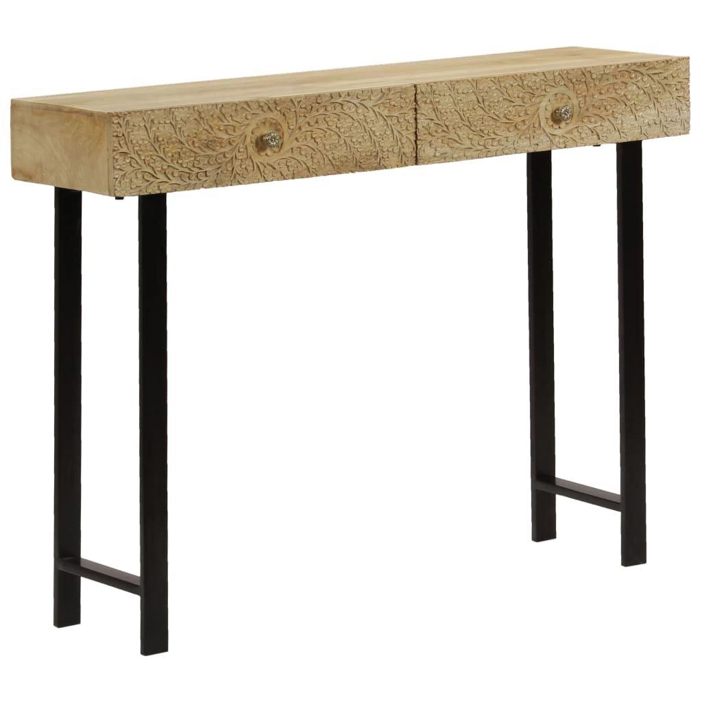Konzolový stolek z masivního mangovníku   102x30x79 cm