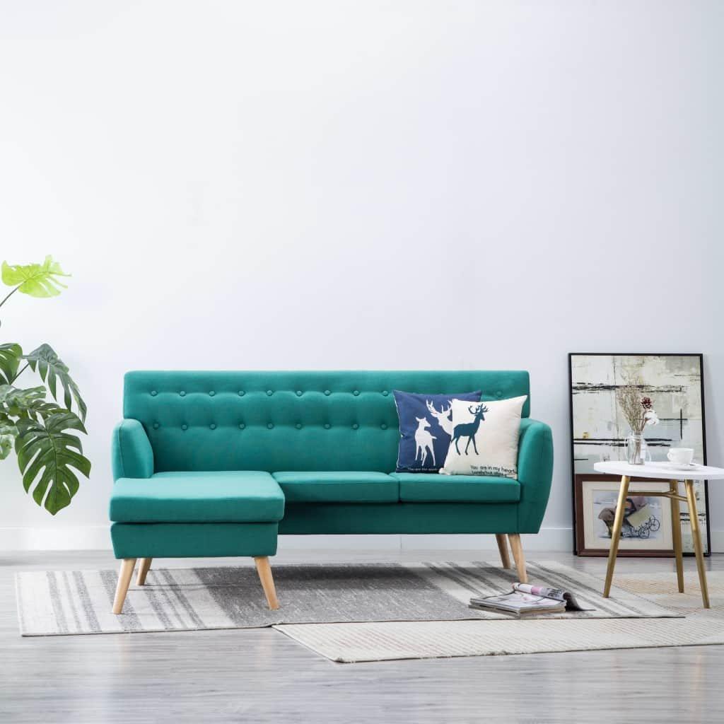 Rohová sedačka Crest - textilní čalounění - 171,5x138x81,5 cm | zelená