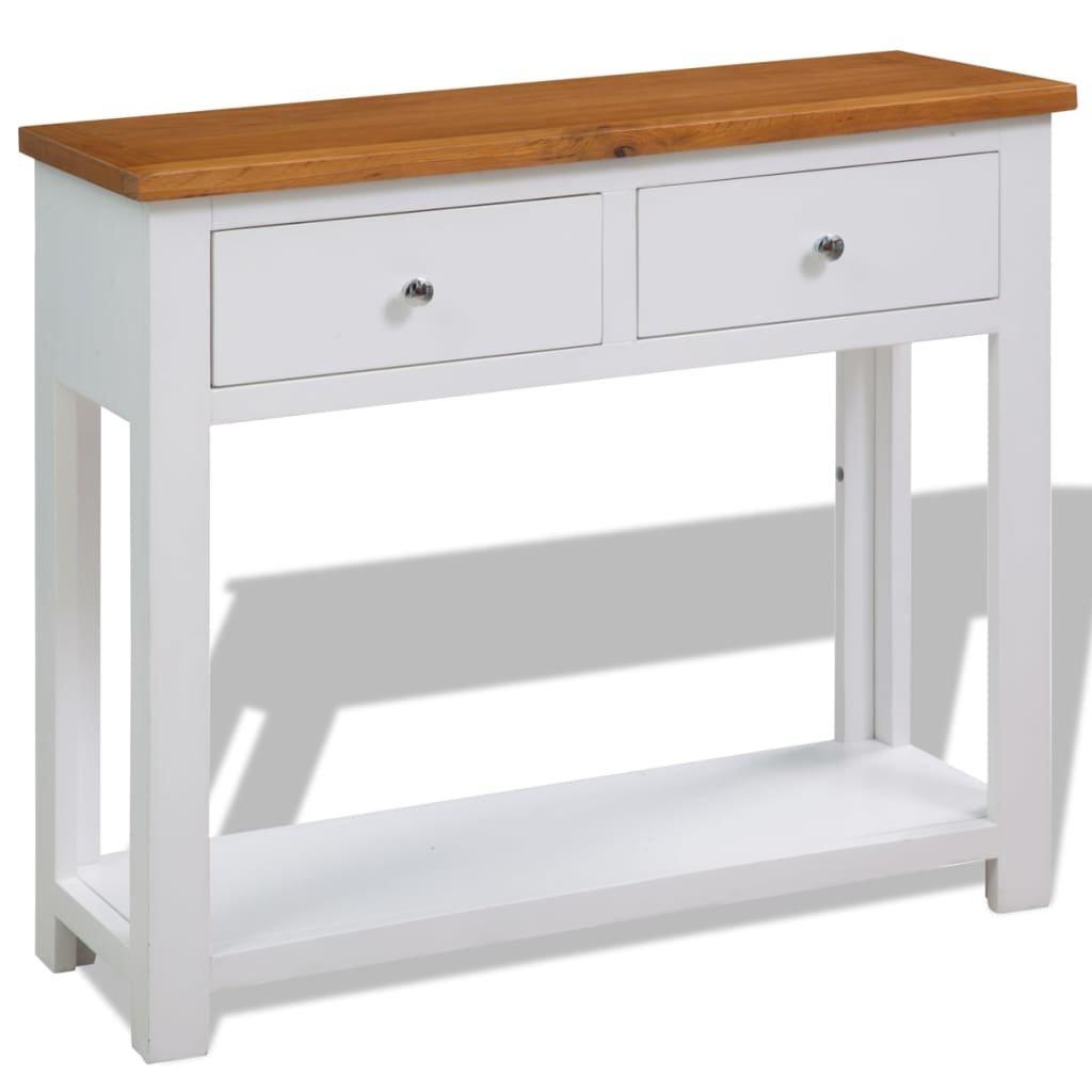 Konzolový stolek - dub | 83x30x73 cm