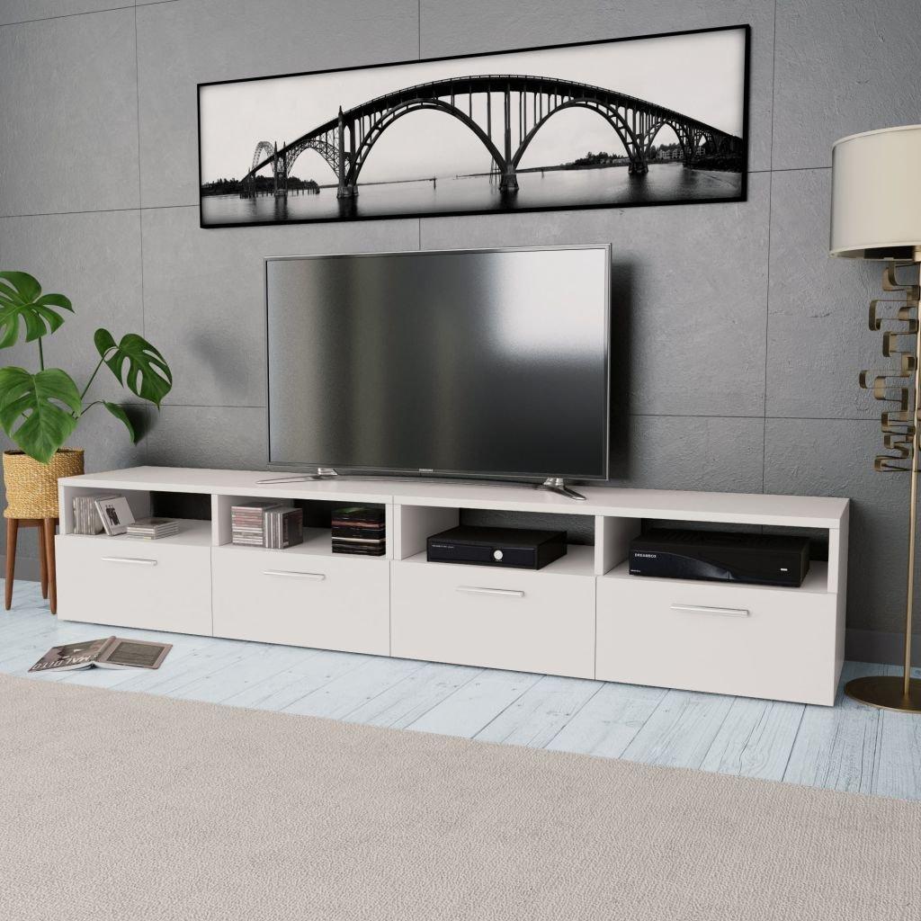 Stolek pod TV - 2 ks - dřevotříska - bílý | 95x35x36 cm