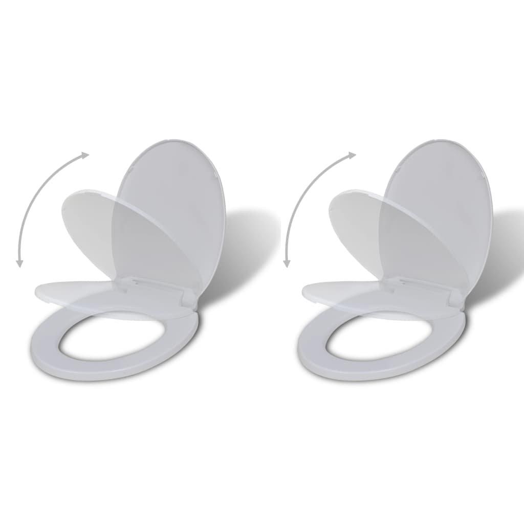 WC sedátka s funkcí pomalého sklápění 2 ks | bílá plastová