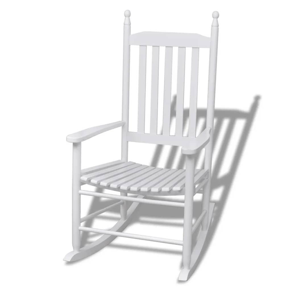 Houpací křeslo se zaobleným sedákem   bílá