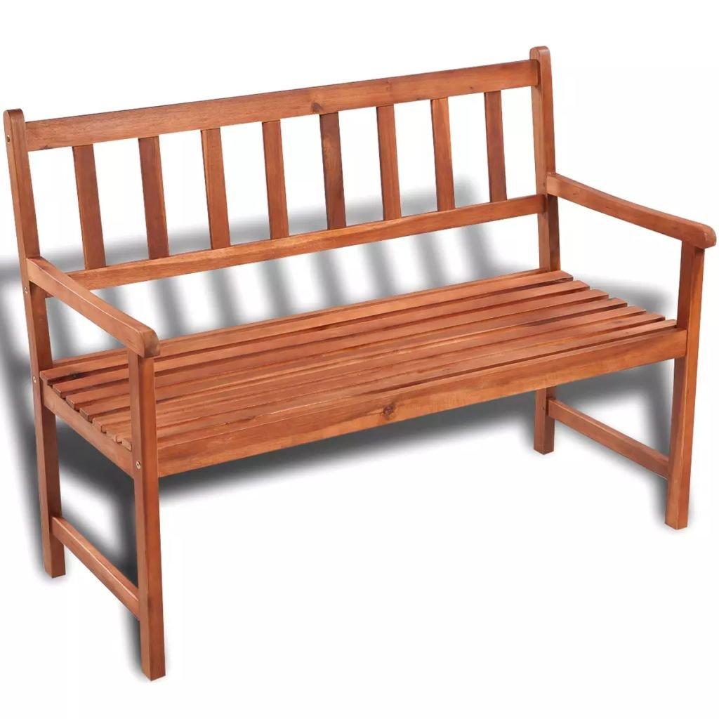 Zahradní lavice - masivní akáciové dřevo   120 cm