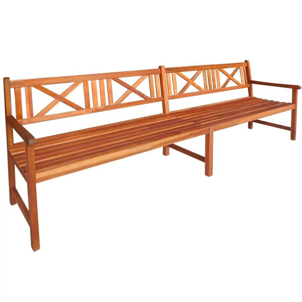 Zahradní lavice - masivní akáciové dřevo | 240 cm