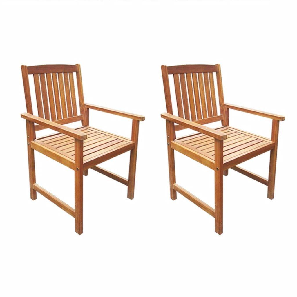 Zahradní židle - 2 ks - masivní akácie | hnědé